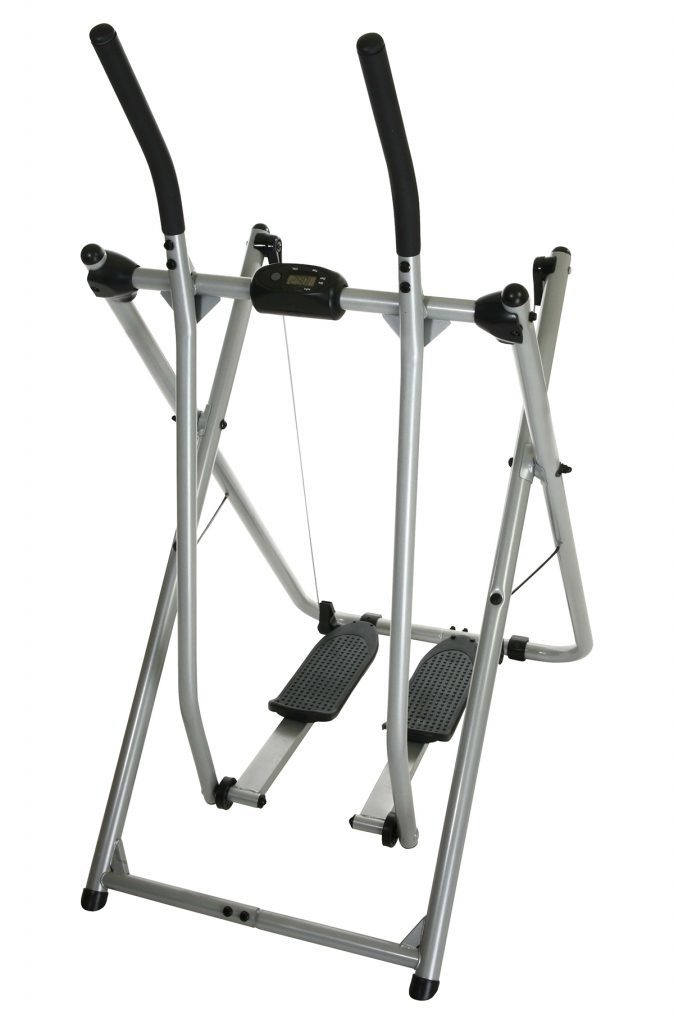 Home exercise equipment over white with clipping path